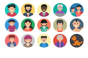 People faces avatar