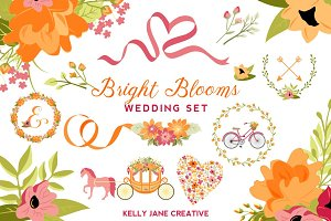 Bright Blooms Wedding Set