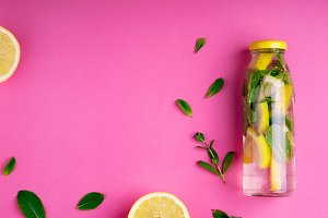 Detox fruit water. Summer drink