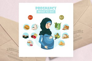 Pregnancy What to eat vector
