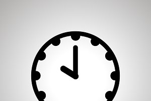 Clock face icon showing 10-00