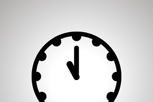 Clock face icon showing 11-00