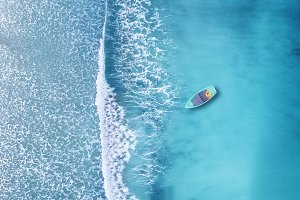 Aerial landscape on the sea