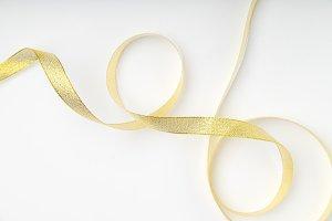 Shiny golden ribbon