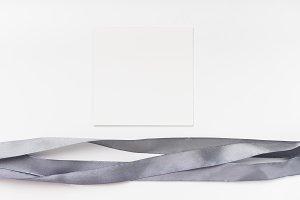 Gray silk ribbons