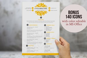 Creative flower resume template