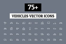75+ Vehicles Vector Icons
