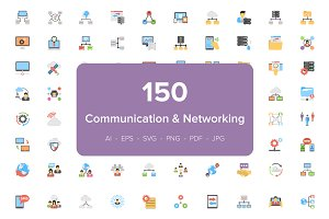 150 Communication & Networking Icons