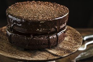 Chocolate cake food photography