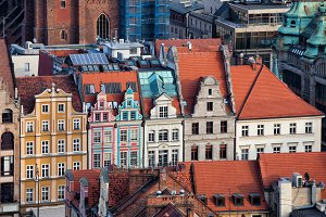 Houses in Old Town of Wroclaw