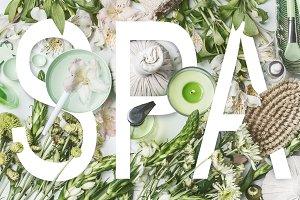 Word SPA on green wellness