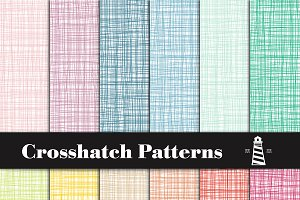Rainbow Crosshatch Patterns