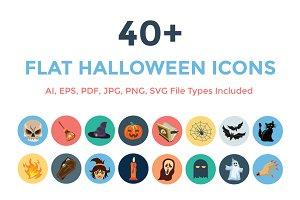 40+ Flat Halloween Icons