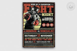 Fight Night Flyer Template V4