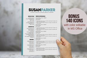 Bold modern resume template