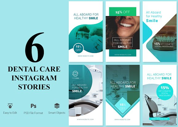 6 Dental Care Instagram Stories