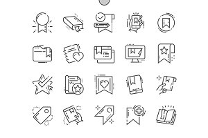 Bookmarks & Tags Line Icons