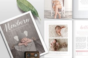 Newborn Magazine Template NM001