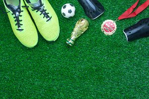 Top view soccer or football