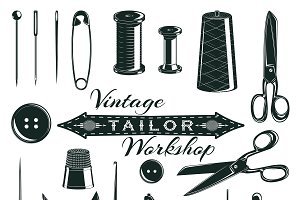 Vintage Tailor Elements Set