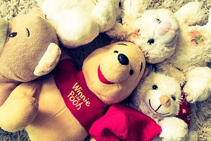 Plush toys photo close up