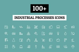 100+ Industrial Processes Icons