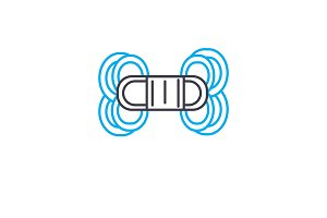 Macrame linear icon concept. Macrame line vector sign, symbol, illustration.