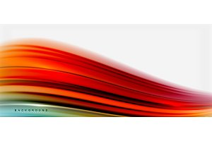 Blurred fluid colors background, abstract waves lines, vector illustration