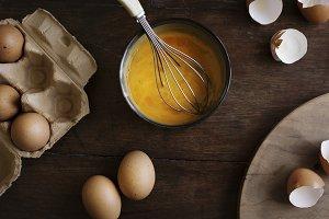 Beaten eggs