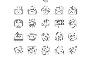 Email Line Icons