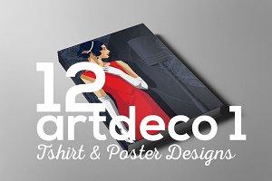 ArtDeco Poster T-shirt Set 1