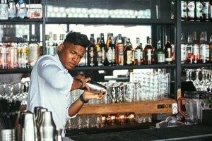Barman shaking a cocktail