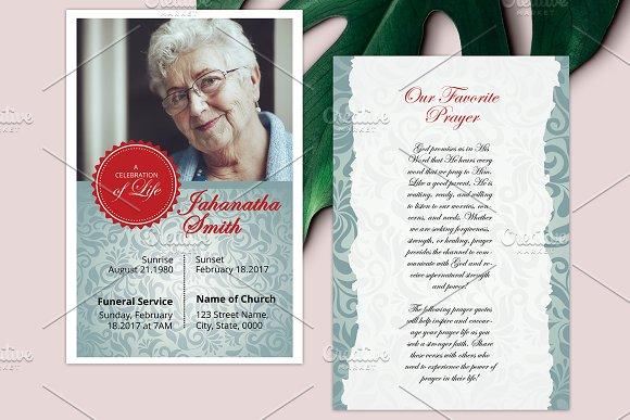 Funeral Prayer Card V04