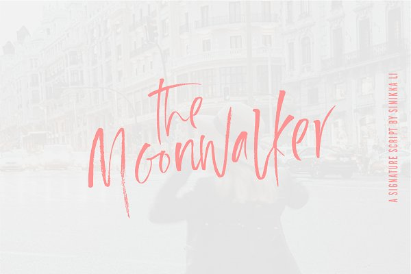 Script Fonts: Sinikka Li - The Moonwalker | A Signature Script