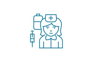 Nurse linear icon concept. Nurse line vector sign, symbol, illustration.