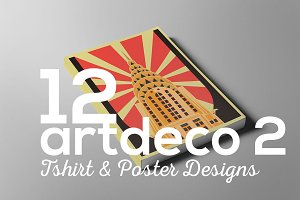ArtDeco Poster T-shirt Set 2