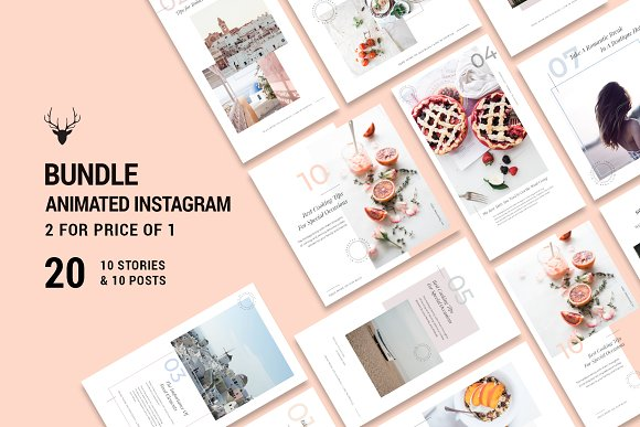 2 for 1 BUNDLE - ANIMATED Insta Pack