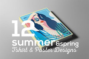 Summer & Spring Poster T-shirt Set