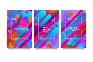 Business geometric design templates.