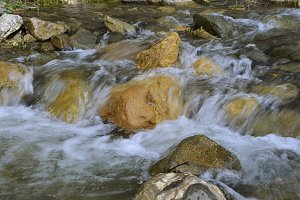 river down between rocks