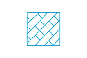 Parquet floor linear icon concept. Parquet floor line vector sign, symbol, illustration.