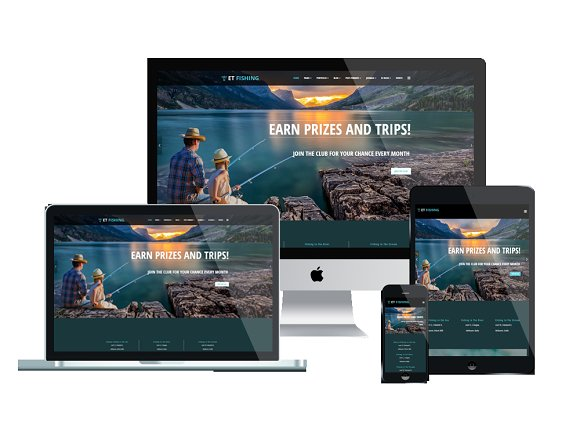ET Fishing Fishing Joomla Theme