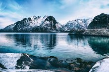 Winter Norway lake by Roksana Bashyrova in Nature