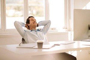 Entrepreneur relaxing