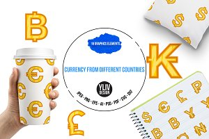 Currency from different countries