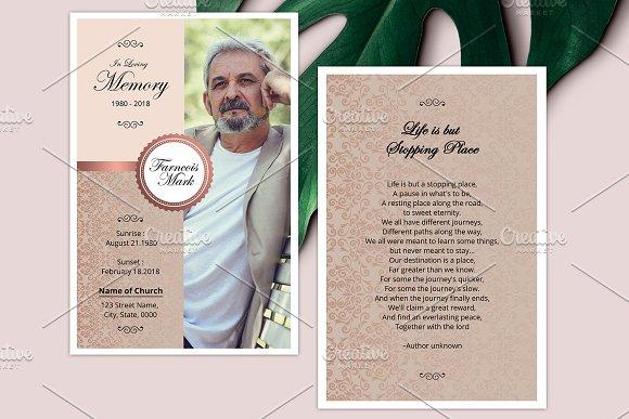 Funeral Prayer Card V05
