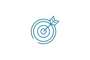 Playing darts linear icon concept. Playing darts line vector sign, symbol, illustration.