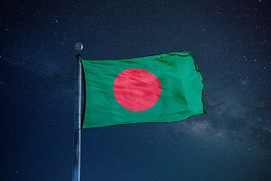 Bangladesh Flag on the mast
