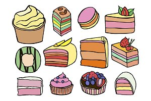 Desserts and sweets color