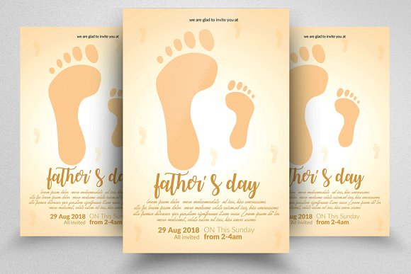 happy father s day flyer templates flyer templates creative market